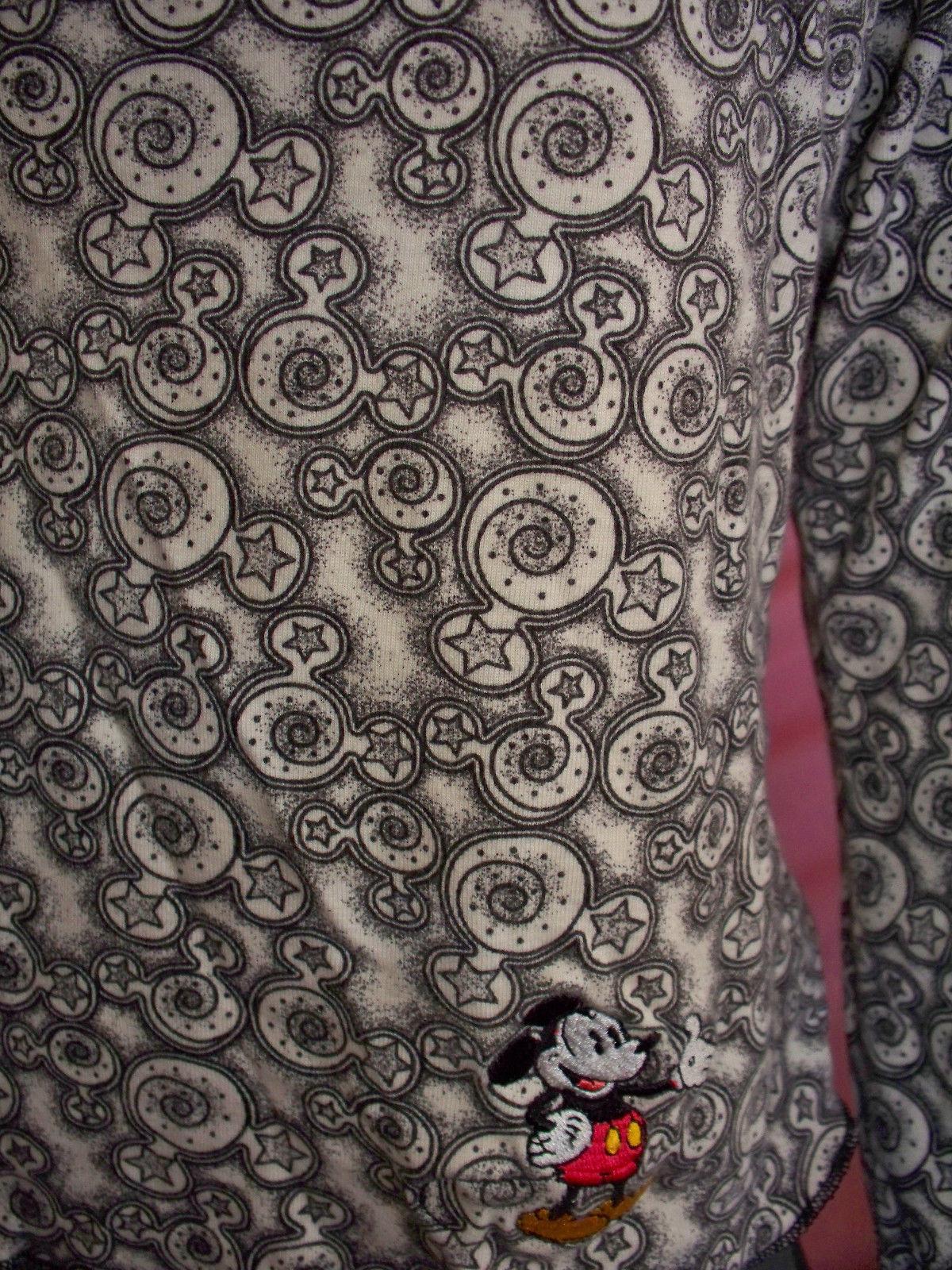 NWOT R$65  Walt Disney World Black Gray MICKEY Pullover Top Shirt Tunic T-shirt