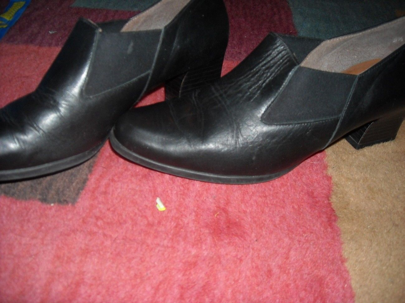 Ladies Size 5 1/2 M Easy Spirit Loafer heels Shoes In Color Black