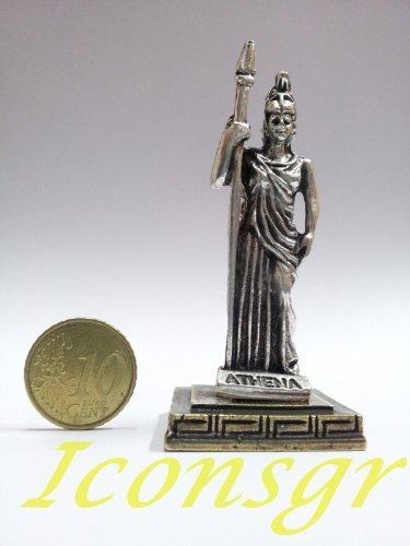Ancient Greek Zamac Miniature Statue of Athena (Silver) [Home]