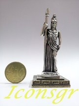 Ancient Greek Zamac Miniature Statue of Athena (Silver) [Home] - $12.64