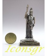 Ancient Greek Zamac Miniature Statue of Athena (Silver) [Home] - $16.79 CAD