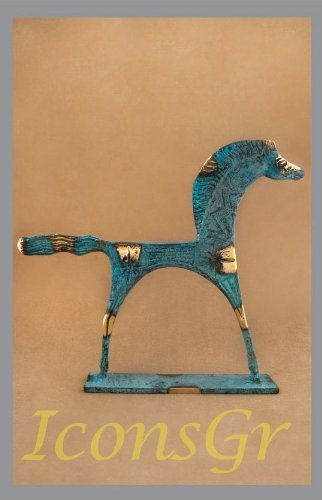 Ancient Greek Bronze Museum Statue Replica of Horse with Gallop (177) [Kitchen]