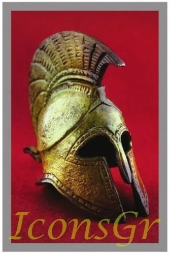 Ancient Greek Bronze Museum Replica of Cretan Helmet (1369) [Kitchen]