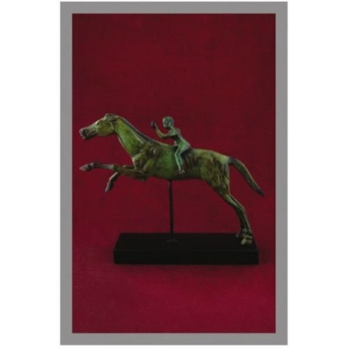 Ancient Greek Bronze Museum Statue Replica of the Rider of Artemision (1650)