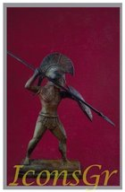 Ancient Greek Bronze Museum Statue Replica of Hoplite From Mikines (1624) - $174.73