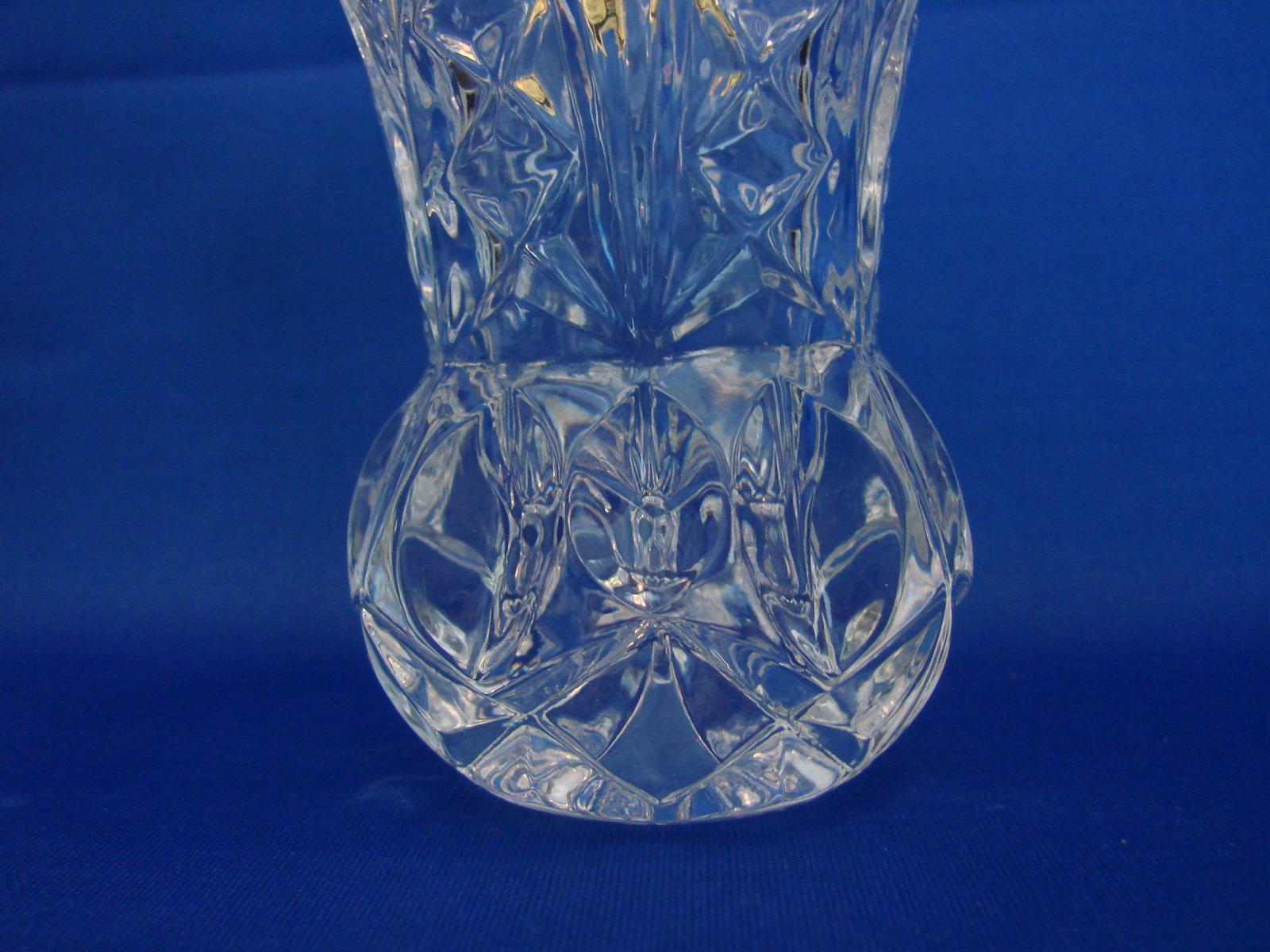 Elegant and Stunning 24% Lead Crystal Large Tooth Pick Holder Zojecar Yugoslavia