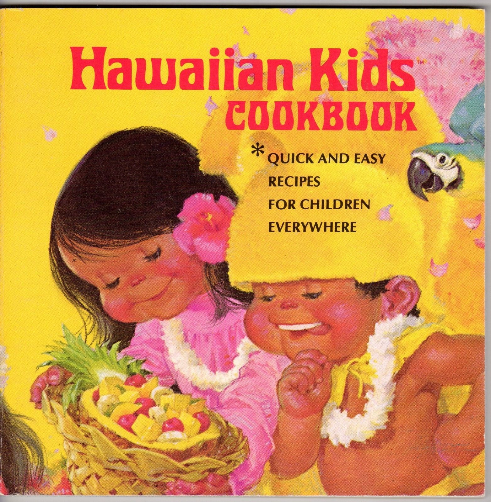1975 Hawaiian Kids Cookbook Onolicious Recipes for Keiki Everywhere Vocabulary
