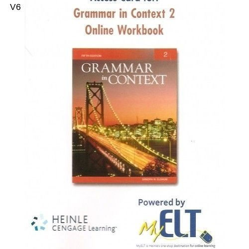 Access Card Grammar in Context 2 Online Workbook myELT Card 5th Edition NEW