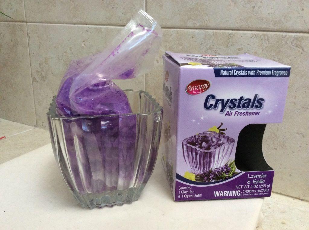 Crystals Air Freshener With Glass Jar Lavender Vanilla Aroma Premium Fragance