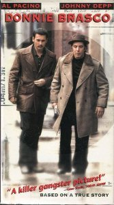 Donnie Brasco...Starring: Al Pacino, Johnny Depp, Anne Heche, Bruno Kirby (VHS)