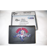 FLORIDA PANTHERS Wallet Officially Licensed NHL Tri Fold Genuine Black Leather