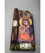 Wooden Greek Christian Orthodox Wood Icon of Mother of Jesus / P9_2 [Kit... - $68.21