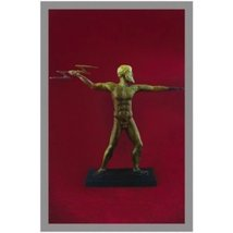 Ancient Greek Bronze Museum Statue Replica of Zeus with Lightning (1137) - $86.14