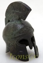 Ancient Greek Bronze Museum Replica of Athenian Helmet Bearing an Owl (1... - $33.03