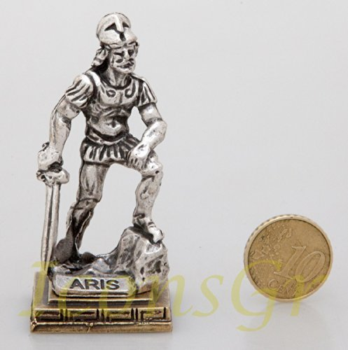 Ancient Greek Zamac Keyring Miniature Statue of Ares (Silver) [Toy]