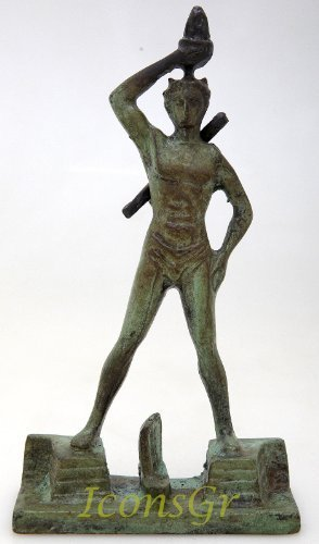 Ancient Greek Bronze Museum Statue Replica of Colossus of Rhodes (1213)
