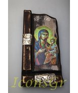 Wooden Greek Christian Orthodox Wood Icon of Mother of Jesus / P9 [Kitchen] - $68.21