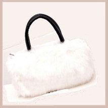 Faux Fur Clutch Evening Hand Bags Comes Six Choice Colors Leopard - White image 6