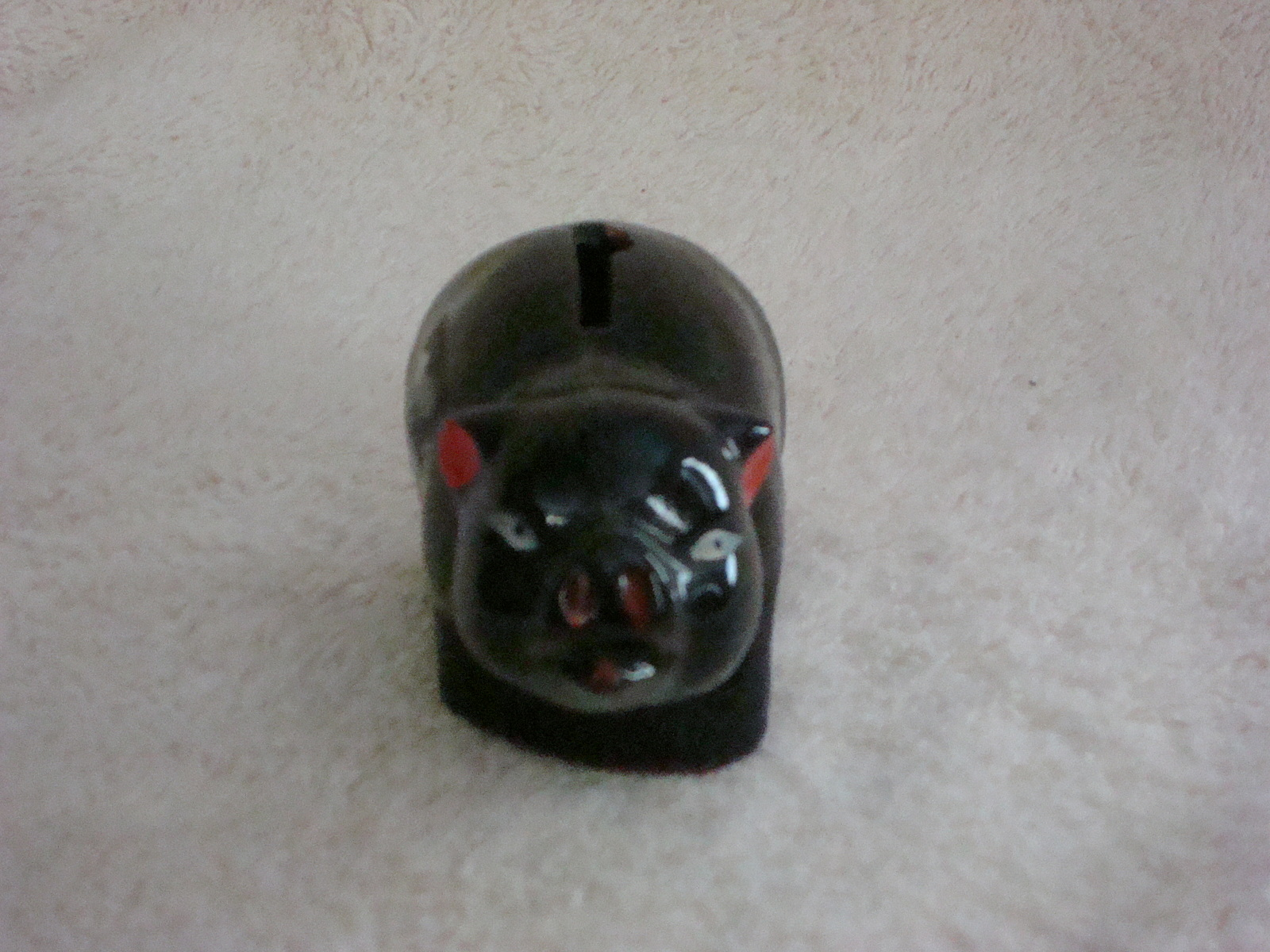 Small Japanese Red Ware Piggy Bank