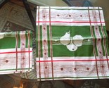 Apt bin 7 set of 2 1940s linen or cotton linen napkingreen brown  red and white with pear design ex cond 8 19 13 2.06  4778  thumb155 crop