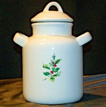 Christmas Double Handle Ceramic Cookie Jar w Lid Item # 252 1P1 AA-191963  Colle image 3