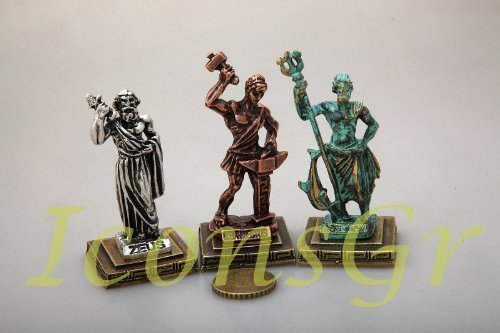 Ancient Greek Zamac Miniature Statues Set of 3 Pieces - 5660 [Kitchen]