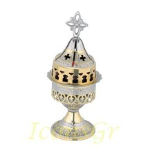 Greek Christian Orthodox Bronze Table Oil Lamp - 9581gn [Kitchen] - $96.53