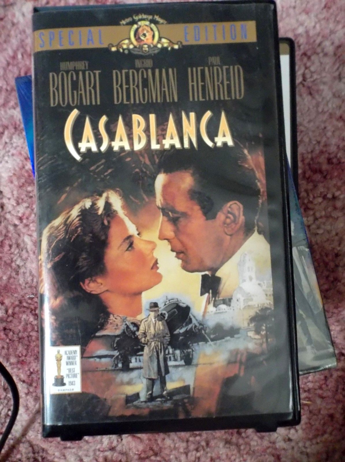 Casablanca (VHS,) COLLECTORS EDITION, Humphrey Bogart, Ingrid Bergman