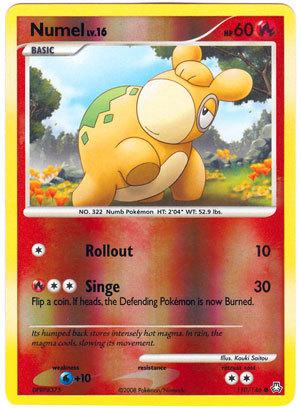Numel 110/146 Reverse Holo Common Legends Awakened Pokemon Card