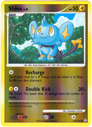Shinx 118 reverse holo common legends awakened