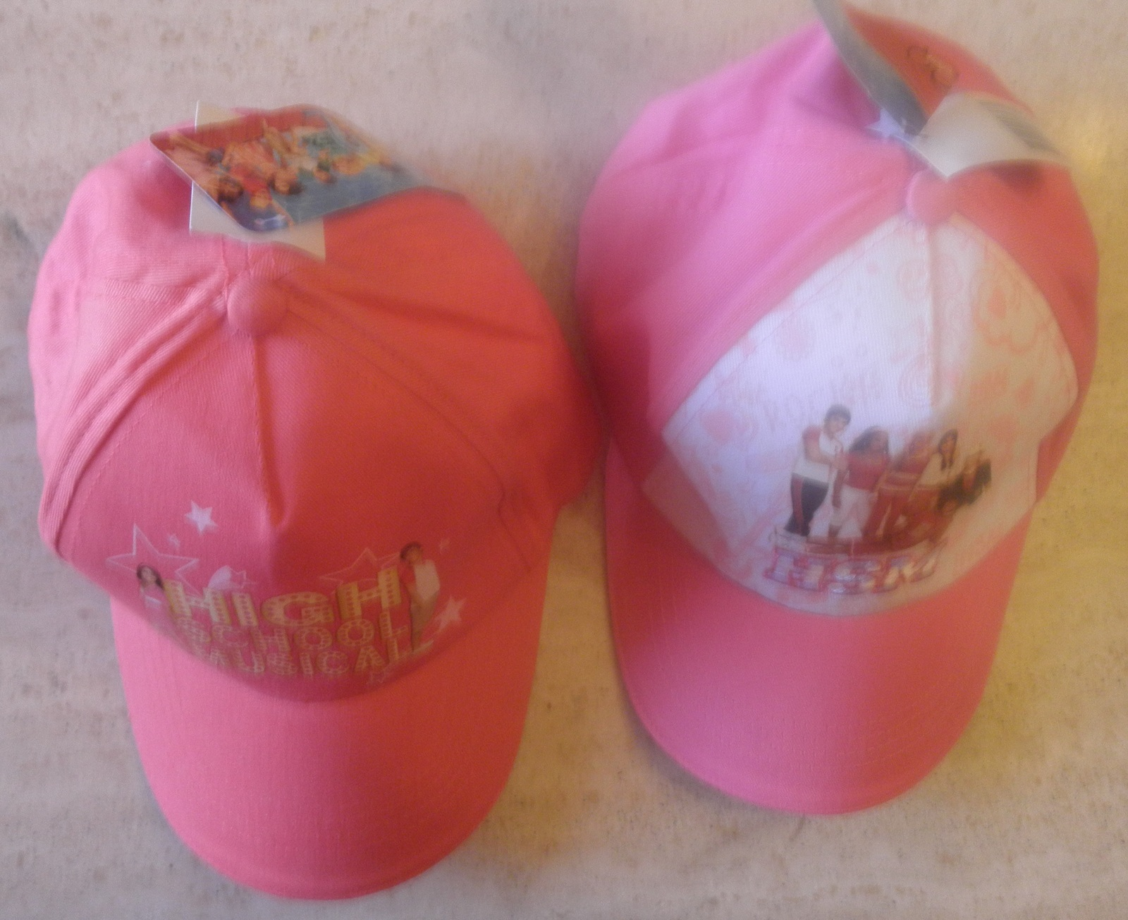 2 baseball caps high school musical nwt