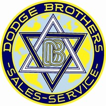 "Dodge Brothers 25.5"" Baked Enamel Metal Sign Re... - $119.95"