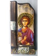 Details About Wooden Greek Christian Orthodox Wood Icon of Saint George /P9 - $65.66
