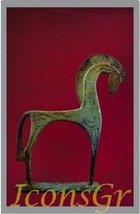 Ancient Greek Bronze Museum Statue Replica of Horse From Geometric ERA (1182) - $34.50