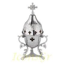 Greek Christian Orthodox Bronze Table Oil Lamp - 9545n - $96.53