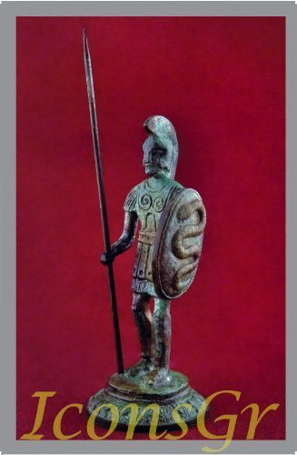Ancient Greek Bronze Museum Statue Replica of Macedonian Army (1153) [Kitchen]
