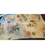 """2 Yards MidWeight Screen Printed Floral Fabric w/ mottled  kind of look""""... - $7.99"""