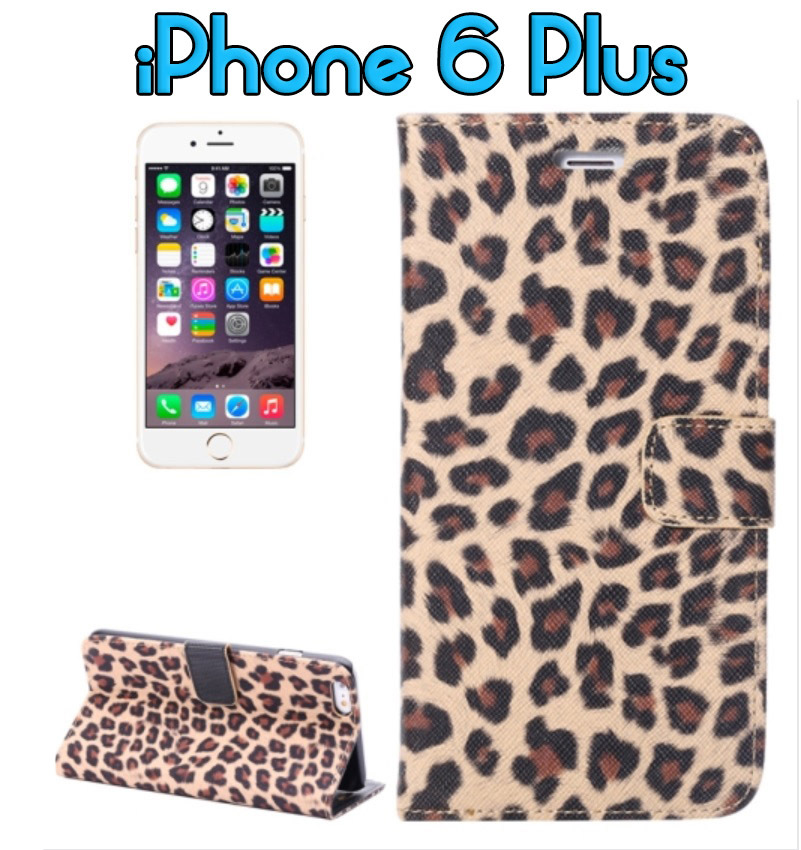 iPhone 6/6S Leather Horizontal Flip LEOPARD Pattern style wallet case