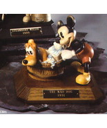 Disney Mad Dog Mickey & Pluto Anri Wood Carving Limited Edition Italy - $450.99