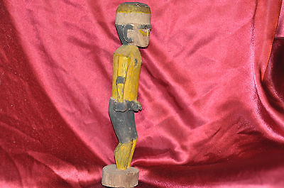 """Wooden Carved Man Anatomically Correct 12""""in."""