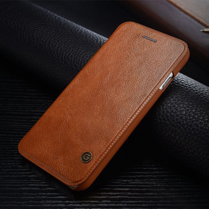 iPhone 6 PLUS/6S PLUS/ Luxury BROWN Leather Flip style protective wallet case