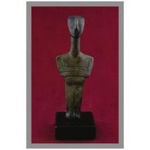 Ancient Greek Bronze Museum Statue Replica of Cycladic Idol (1653) [Kitchen] - $84.57