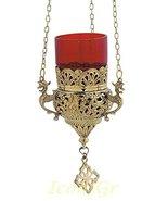 Greek Christian Orthodox Bronze Oil Lamp with Chain - 9503b - $84.48