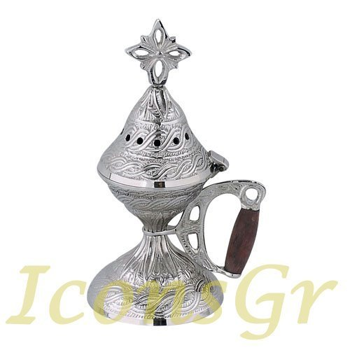 Christian Orthodox Greek Censer (9584-n) [Kitchen]