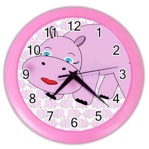 """Animal Wall Clock 10"""" Diameter Plastic Frame and Face Cover Choice of 5 Animals"""