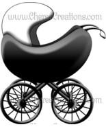Baby Buggy Digital Clip Art Scrap Booking Scrapbooking - $1.75