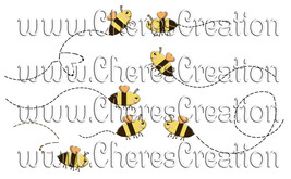 Bee Clip Art for Digital Scap Booking Scrapbooking Crafts - $1.75