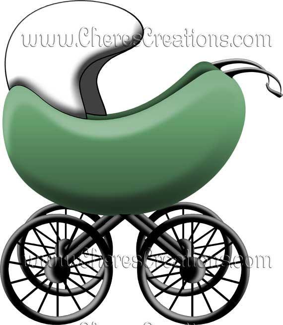 Baby Buggy Digital Clip Art Scrap Booking Scrapbooking