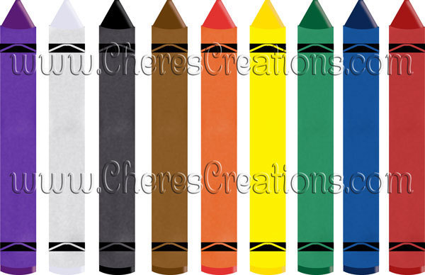 Crayons Digital Clip Art for Digital Scap Booking Scrapbooking Crafts