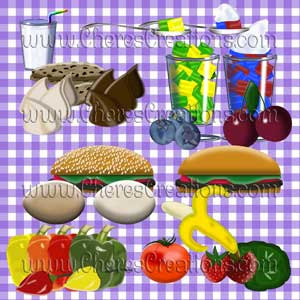 Food Digital Clip Art Sheet
